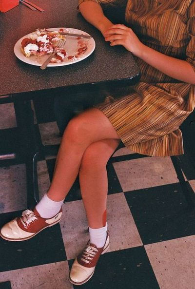 Tavi Gevinson by Petra Collins from the ardorous  seriously want a pair of saddle shoes