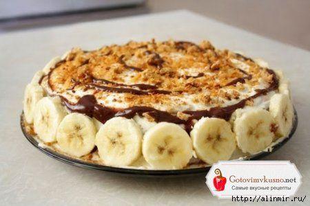 """Банановый торт без выпечки """"Трюфельдинья"""" №2"""