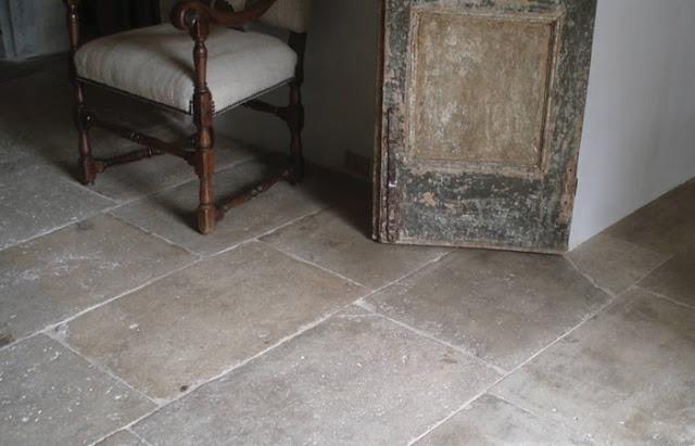 reclaimed limestone floor from Paris Ceramics