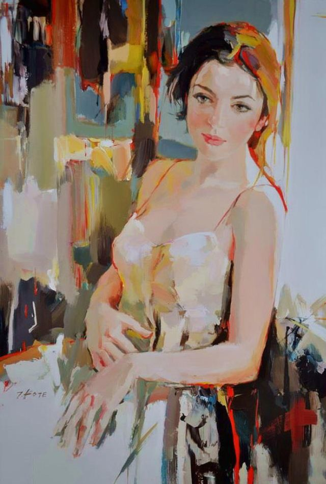 Josef Kote. So many colors in the skin tone.