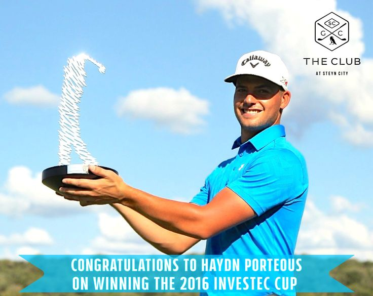 The Club at Steyn City would like to congratulate Haydn Porteous on winning The (mens tournament) Investec Cup 2016!