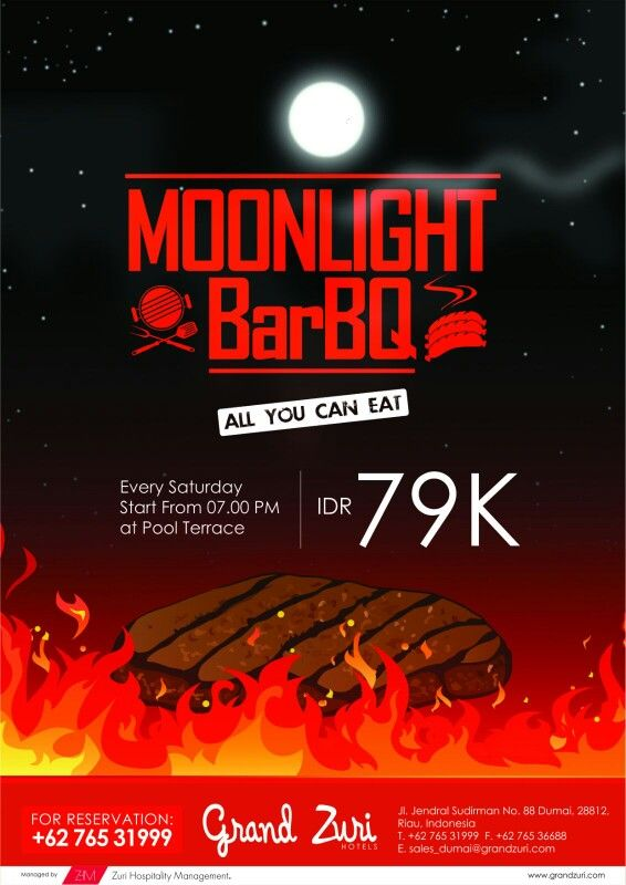 Moonlight Barbeque Every Saturday Night