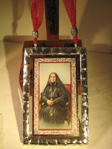 Mother Cabrini Stained Glass Holy Prayer by TheRecycledCatholic, $22.99