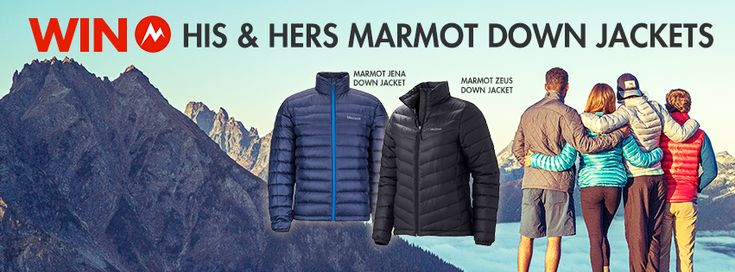 We have 2 awesome Marmot Down Jackets to give away!