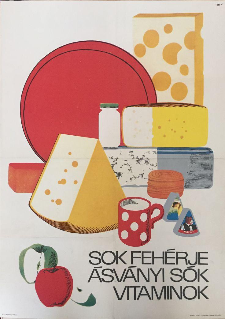 Sok fehérje ásványi sók vitaminok 1968. | Plakát galéria
