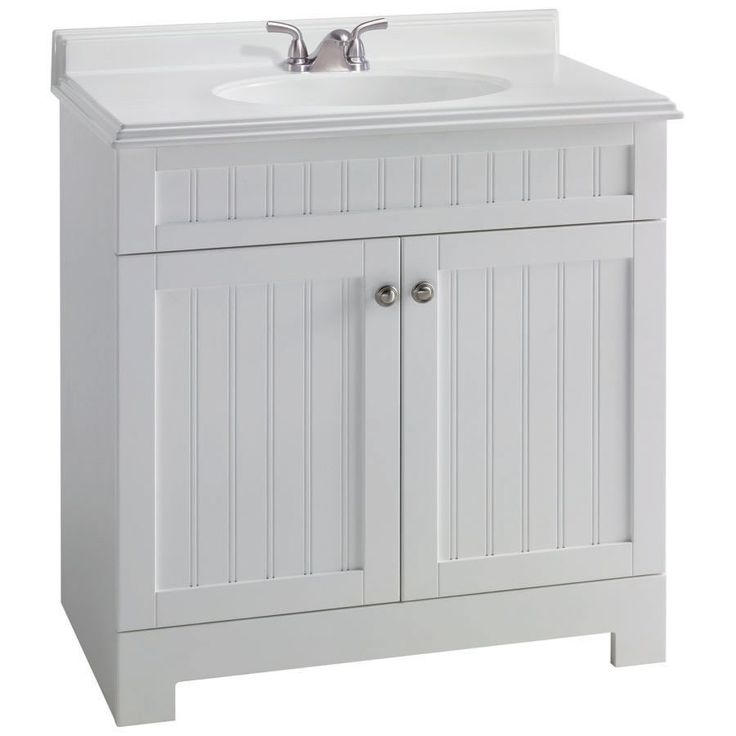Style Selections Boardwalk White Single Sink Bathroom Vanity With Top At Lowe S Canada 31 169