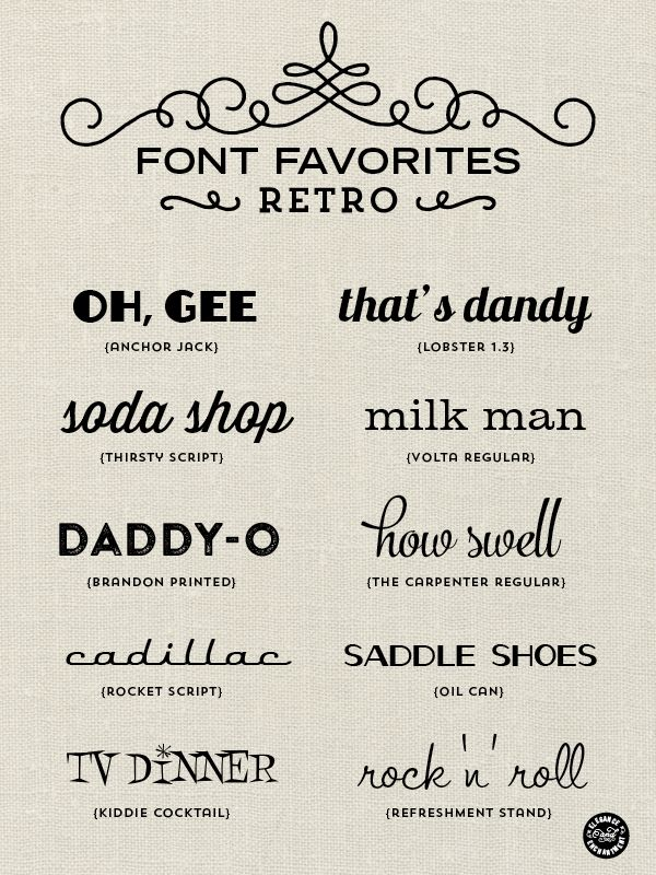 Elegance and Enchantment Font Favorites - Retro