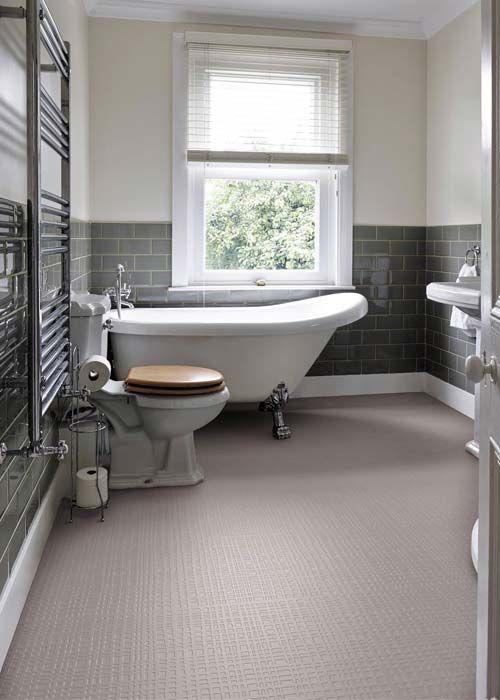 Elegant Bathroom With Mink Grid Flooring By Wayne Hemingway