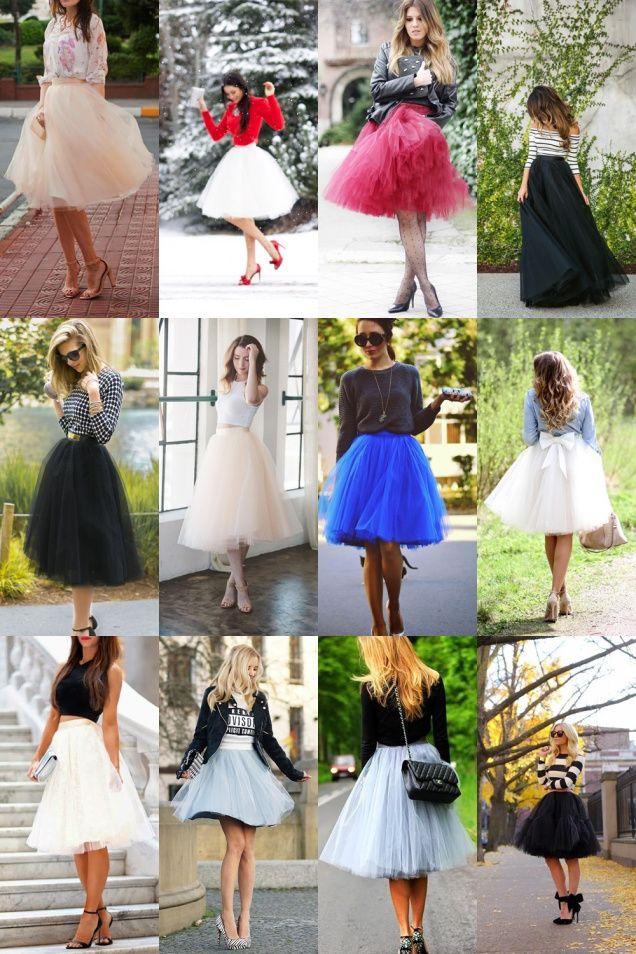 Tulle Skirt: Saia de Tule
