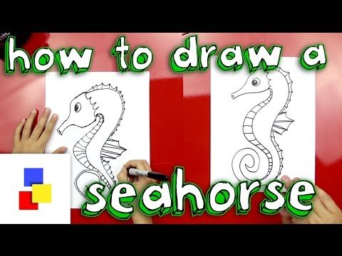 How To Draw A Seahorse - YouTube