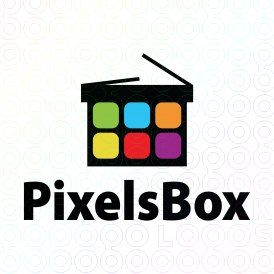 Exclusive Customizable Box Logo For Sale: Pixels Box | StockLogos.com