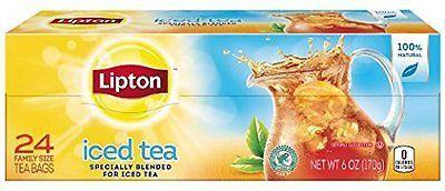 Lipton Tea - Lipton Iced Tea - Family Size 24 Count Black Tea Bags - (Pack of 3)