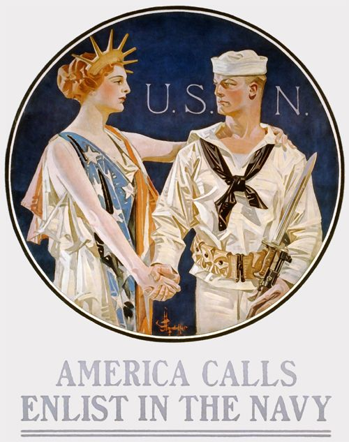 WWI enlistment poster by J.C. Leyendecker, 1917.