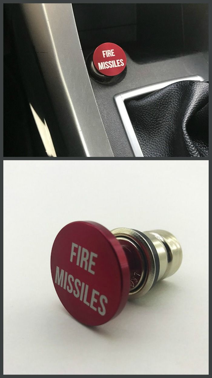 Something that every car needs - a Fire Missiles Button in bright red! #affiliate