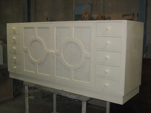 Mueble bajo lavabo fabricado con madera de pino y tableros - Tableros de madera de pino ...