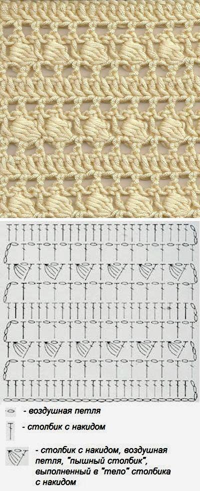 Amazing crochet free pattern / очень красивый узор — схема вязания крючком