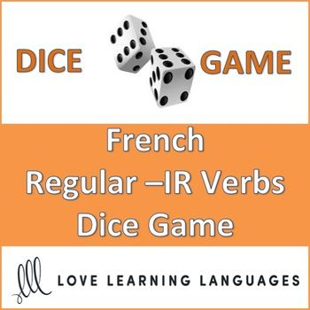 This is an easy to play 30 minute dice game to practice 36 different regular French -IR verbs in the present tense. My high school students love this game, and it can get very competitive if you decide to play it as a race (details are explained with the activity).