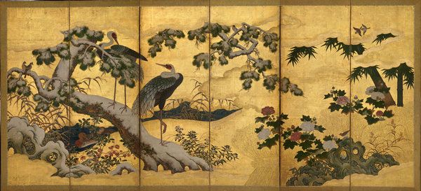 """Kano school. The second half of """"Birds and Flowers of the Four Seasons."""" Credit Times"""