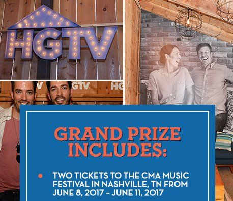 Winner will receive two tickets to the CMA Music Festival in Nashville, Tennessee, taking place 6/8/17 – 6/11/17 and more. Worth $4,461.50 in all.    Limit one entry per person.
