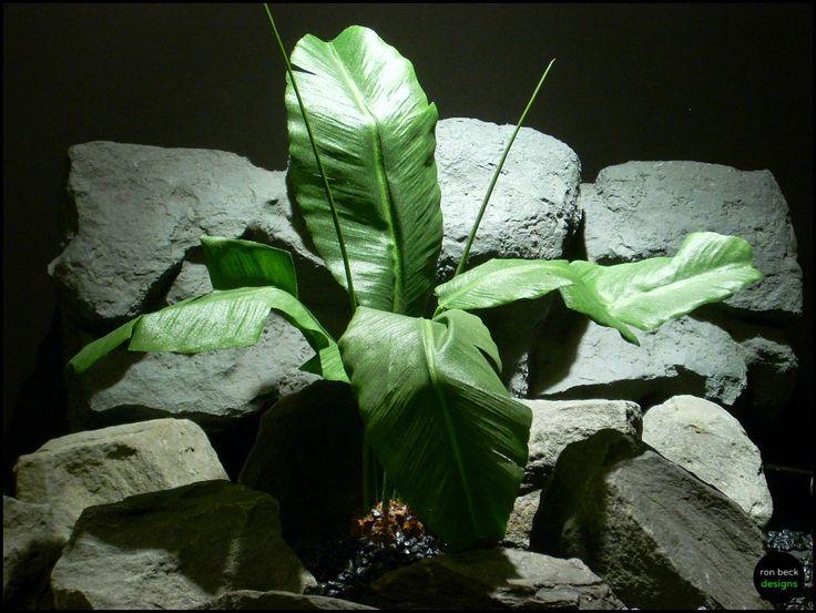 silk reptile or snake habitat plant banana leaves by ron beck designs | ronbeckdesigns.com #ron_beck_designs #aquarium #plant #decor #artificial #reptile #Reptile #Terrarium #ronbeckdesigns #silk