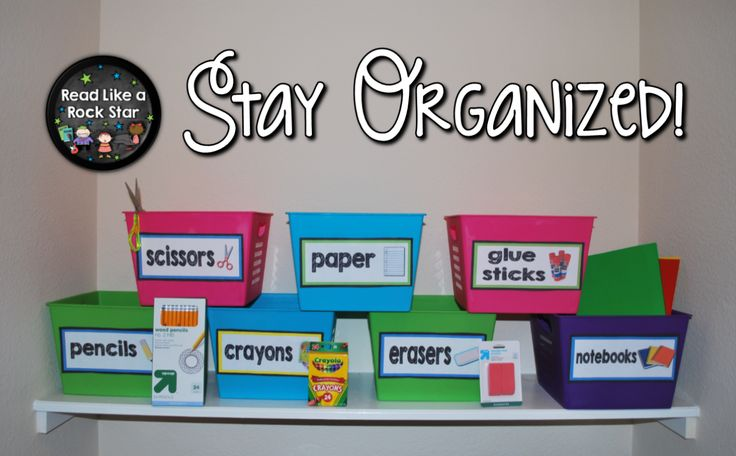 Read Like a Rock Star's Bright Idea: Let your students organize and sort their own supplies!
