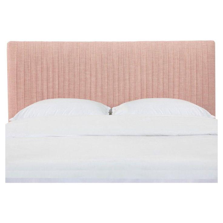 Peyton Pleated Headboard - California King - Zuma Rosequartz - Skyline Furniture, Pink