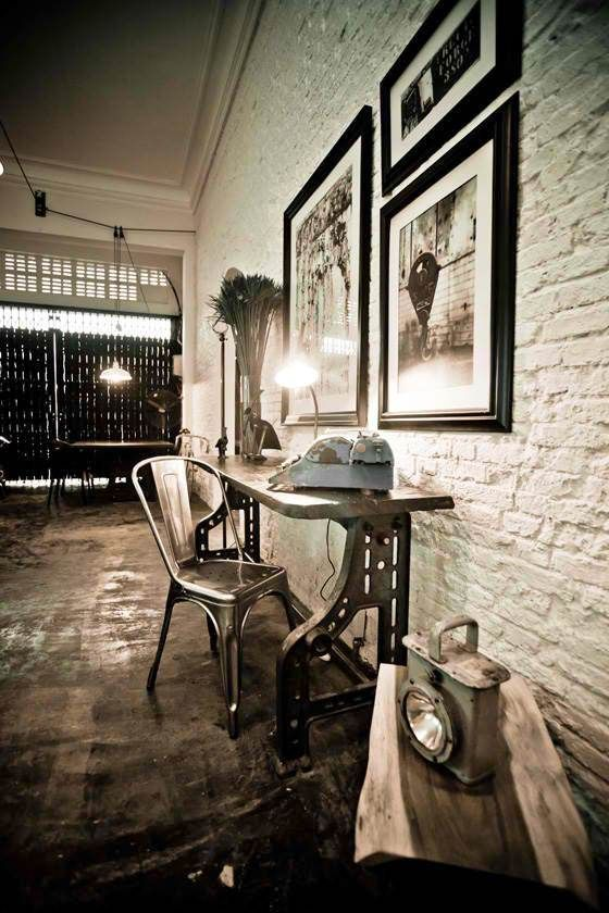 1000 images about painted brick on pinterest painted for Arredamento industrial chic