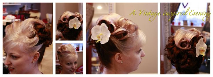 Rockabilly hair with a modern twist of color