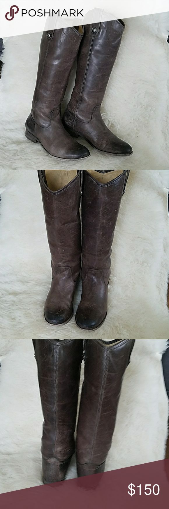 Frye Melissa boots Gorgeous boots. Great used condition. I have bag in same color for sale. Frye Shoes Winter & Rain Boots