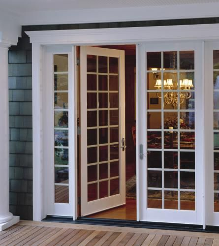 French Doors With Colonial Grids For A Traditional Look In