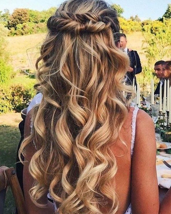 Partial Updo Wedding Hairstyle Half Up Half Down Hairstyle