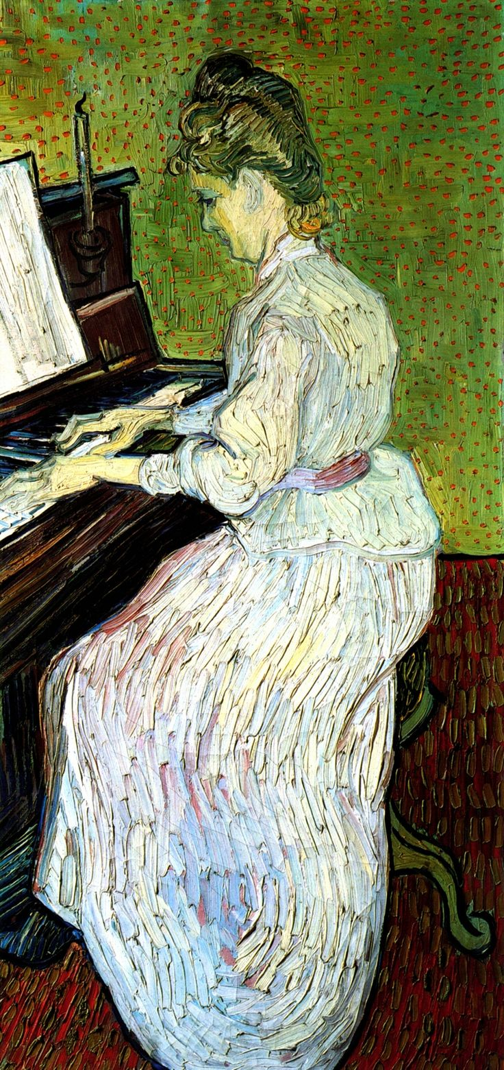 Marguerite Gachet at the Piano, Vincent van Gogh (1890)