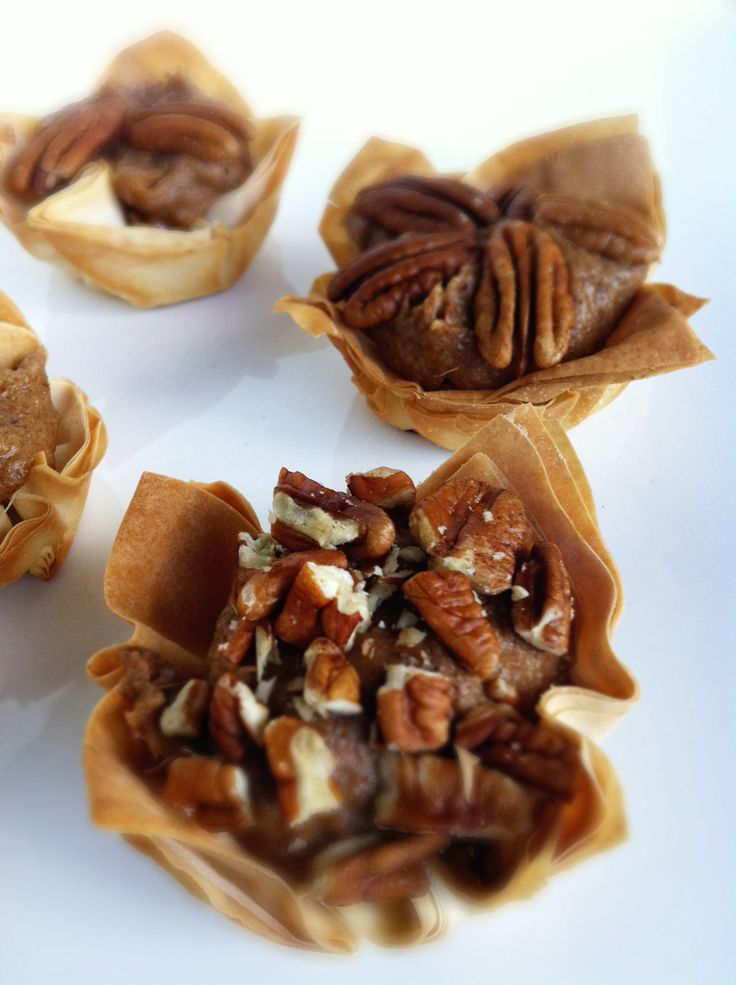 Skinny Pecan Pie Phyllo Tarts | Pecan Pies, Pecans and Tarts