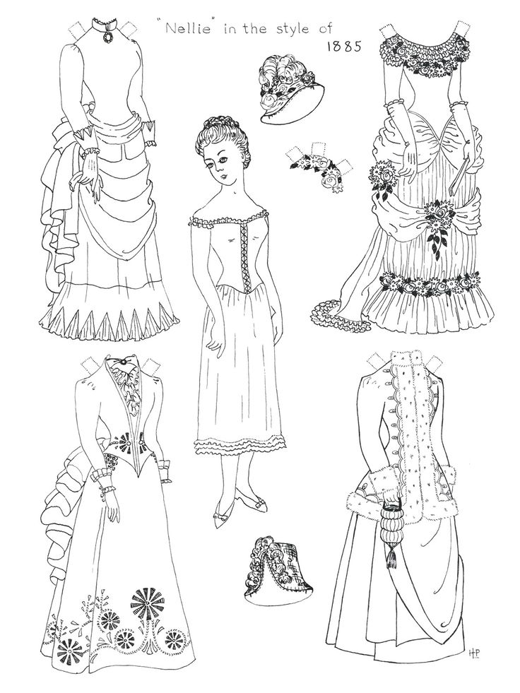 paper doll coloring pages to print - Paper Doll Clothes Coloring Pages