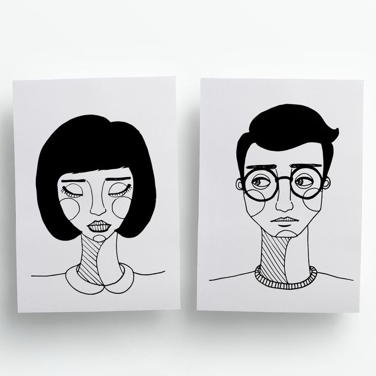Poster A5 casal amor ilustração frase