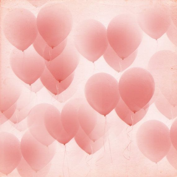 Beautiful pink balloons