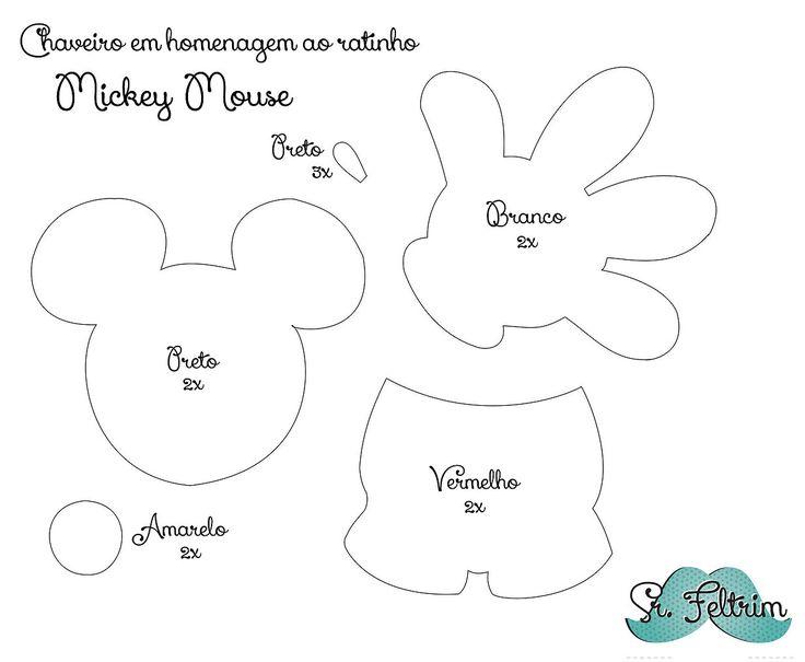 srfeltrim   Chaveiro em homenagem ao Mickey com molde gratuito e PAP em vídeo