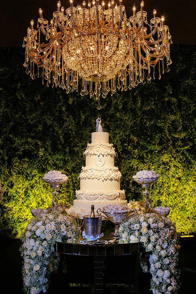 mesa de bolo casamento lustre lhadro