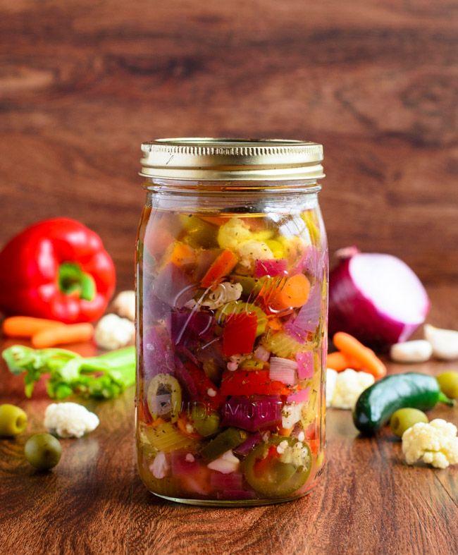 Italian Giardiniera is so fresh, vibrant and easy to make!- The Spice Kit Recipes (www.thespicekitrecipes.com)