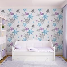 Frozen Snowflake Wallpaper by Graham and Brown.....I NEED THIS!