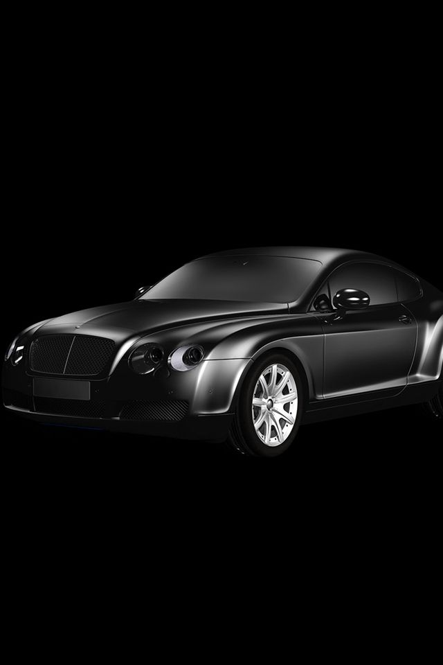 Car Bentley Dark Black Limousine Art Illustration #iPhone #4s #wallpaper