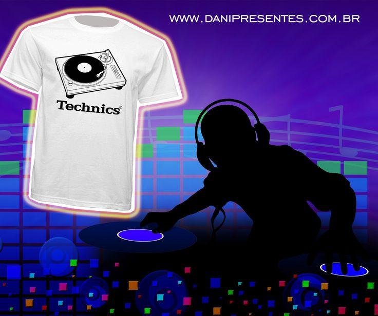 Você gosta de música? É fã dos toca-discos e é DJ? Essa camiseta é a sua cara!    http://www.danipresentes.com.br/camiseta-toca-discos-technics    #danipresentes #anos80 #nostalgia #tocadisco #technics #musica #dj