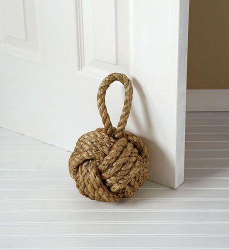 a sailor's knot doorstop