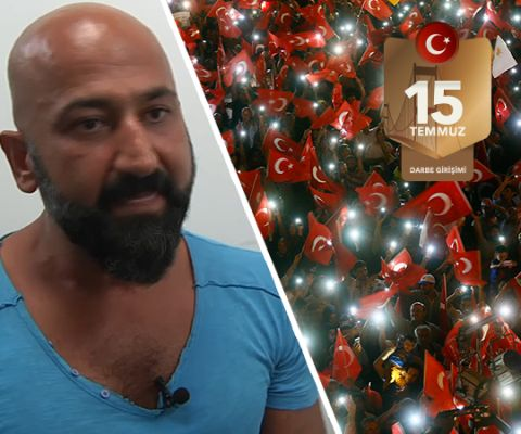 """Tankın altına yattı  FETÖ tarafından gerçekleştirilen 15 Temmuz darbe girişimi sırasında Atatürk Havalimanı'nda tankın önüne yatan Metin Doğan, """"İnanıyorum ki bu milletin kadın-erkek her bir ferdi bu hareketi yapacak karakterdedir"""" dedi."""