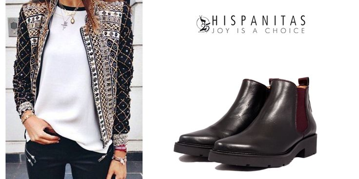 Ti-ai pregatit o iesire in oras cu prietenii in acest weekend? Pentru o tinuta stilata si cool alege ghetele #Hispanitas! Weekend placut iti dorim! - black shoes outfit -