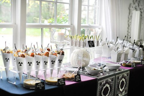 Decoration. Interesting Cocktail Party Decoration Ideas: Creative Idea About Party With Glass Decoration On The Table Along With Cutlery Set Next To The Glass Window ~ Bucga #party decoration