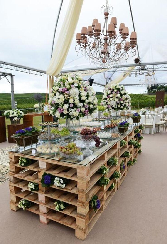 Casamento rústico | Decoração feita com pallets