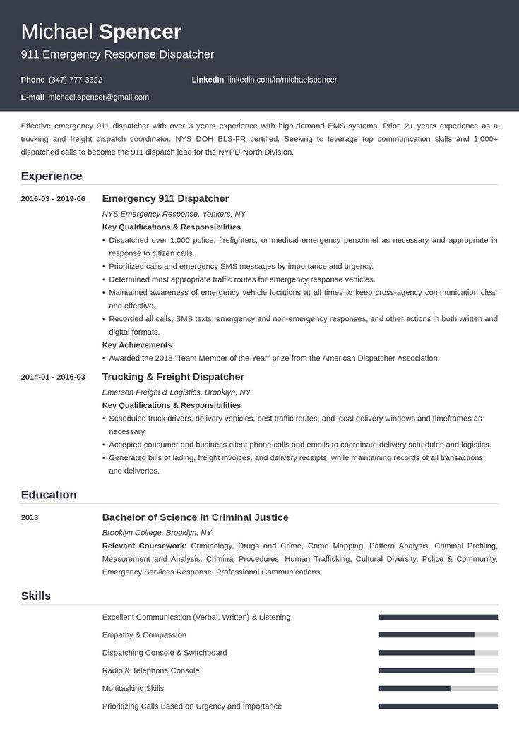 Dispatcher Resume Example Template Influx Architect Resume Sample Resume Examples Job Resume Examples
