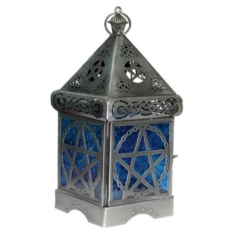Pentacle Silver Lantern - The Hippie House
