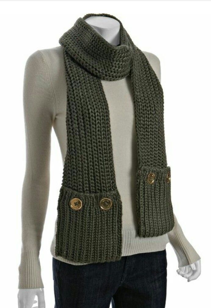 Knitting Pattern Scarf With Pockets : Pocket Scarf Knitted scarves, shawls & cowls Pinterest ...